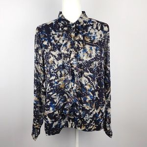 CAbi | NWT Long Sleeve Starry Night Blouse {3066}